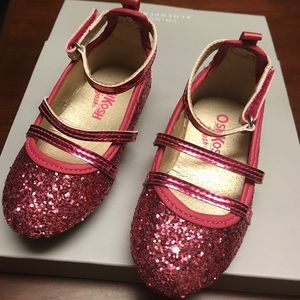 OshKosh B'gosh glitter ballerina shoes